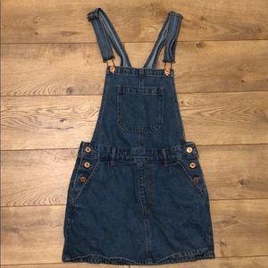 Denim overall dress from Forever 21